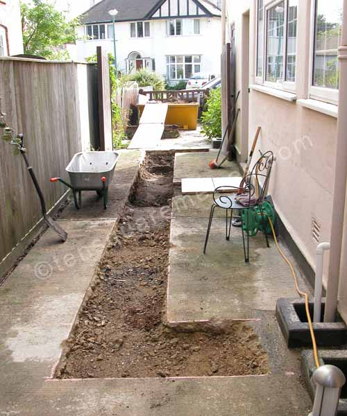 Self build house extension groundwork foundations for Digging foundation for house