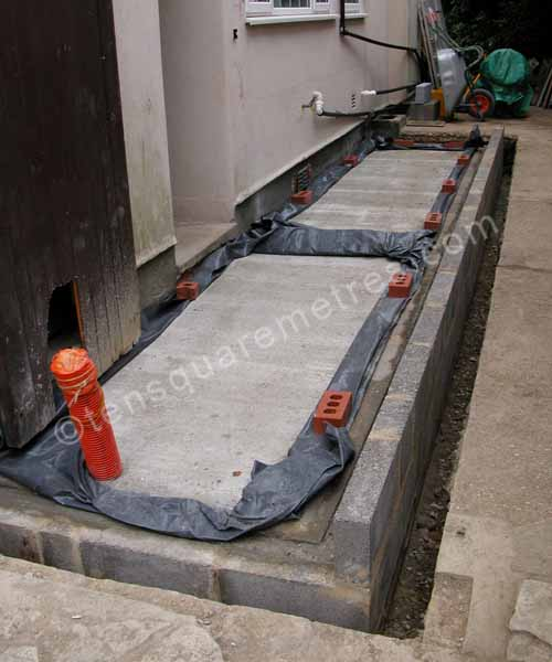 Self Build House Extension Groundwork Concrete Floor Slab
