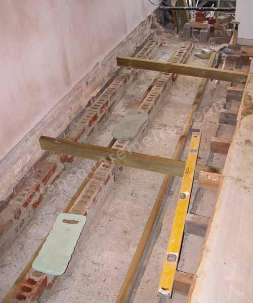 how to cut subfloor along wall