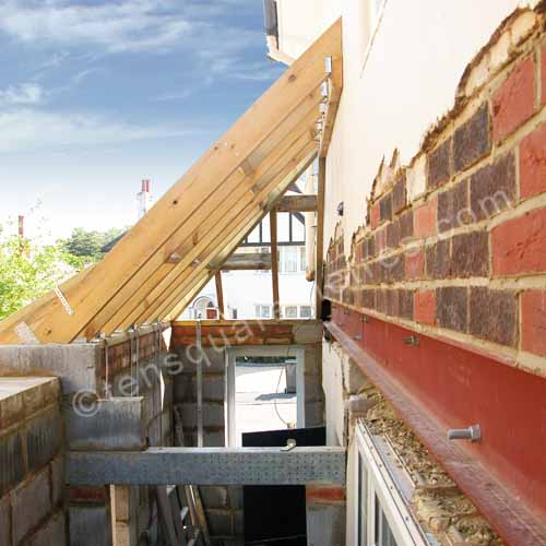 Self Build House Extension Roof Gable
