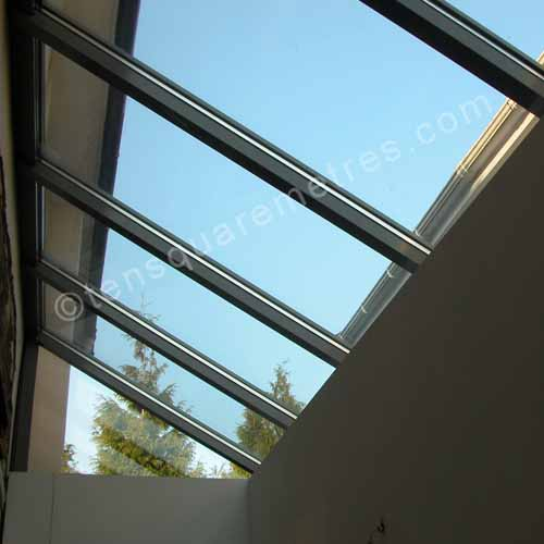 self build house extension roof glass roof extension