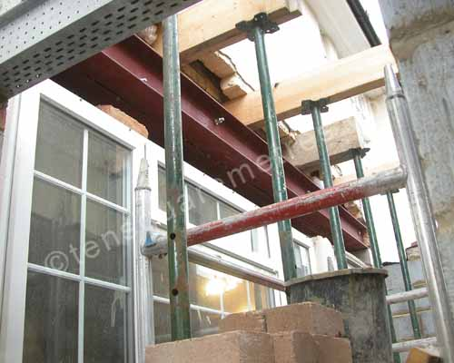 Self Build House Extension Structure Installation
